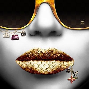 Louis Vuitton lips by Jean Raphael