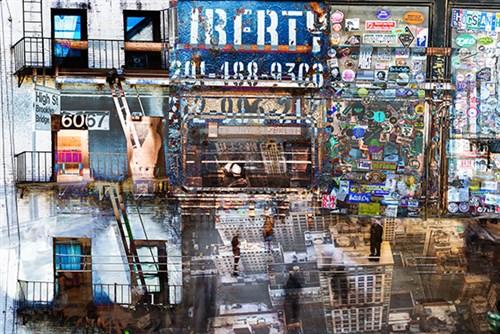 Urban city kunst van Thierry Vanhuysse